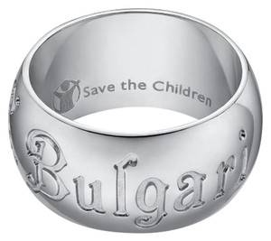 BVLGARI Bulgari Save The Children Sterling Silver Ring US 5.25