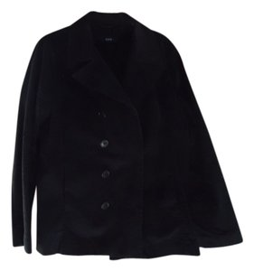 Gap Pea Coat Spring Fall Light Weight Black Jacket
