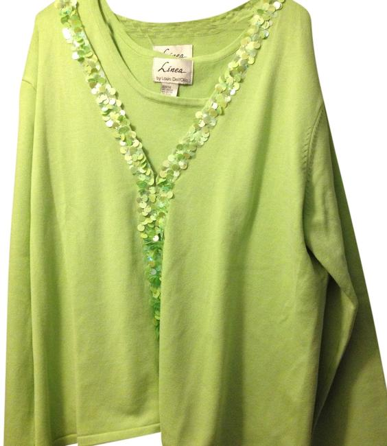 Louis Dell'Olio Sequins 2 Piece Tank Cardigan Sweater