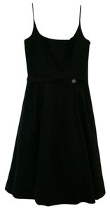 Maggy London Cocktail Spaghetti-strap All-black Dress