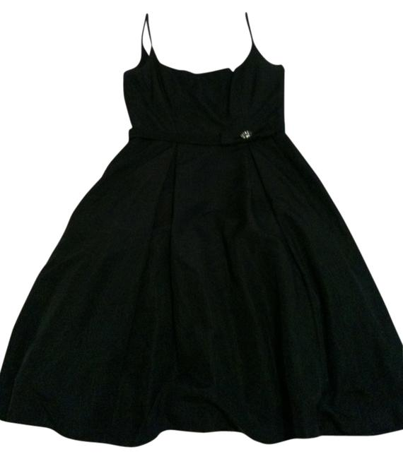 Maggy London Cocktail Spaghetti-strap All-black Dress Image 1