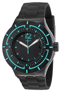 Swatch Swatch SUUB403 Men's Dark Water Black Analog Watch