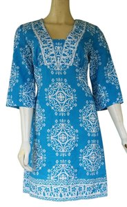 Ann Taylor short dress Turquoise Linen Blend Tunic on Tradesy