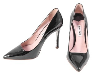 Miu Miu Glitter Sole Black/Silver Pumps