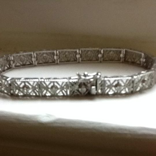 Other Sterling Estate Style Filigree Bracelet