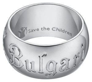 BVLGARI Bulgari Save The Children Sterling Silver Ring US 6.75