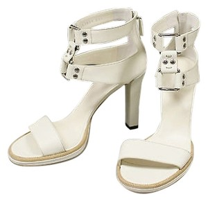 Gucci Gladiator Leather Platform Whites Pumps