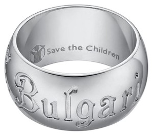 BVLGARI Bulgari Save The Children Sterling Silver Ring US 7.5