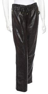 Louis Vuitton Leather Relaxed Pants Black