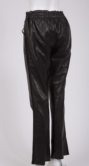 Louis Vuitton Leather Leather Track Joggers Relaxed Pants Black