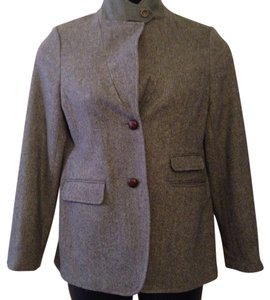Lands' End Wool Pea Coat Wool Lands Gray Blazer