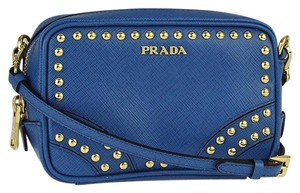 Prada Studded Saffaino Studded Camera Cross Body Bag