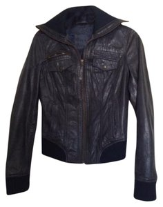 Other Navy Blue Leather Jacket