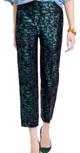 J.Crew Capri/Cropped Pants Black/green with shimmer