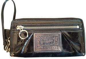 Coach Coach Poppy Patent Leather Zip Around