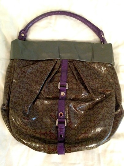 Marc by Marc Jacobs Pleather Jelly Tote in Grey and Purple