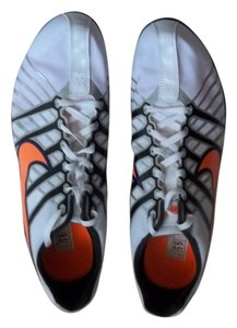 NIKE Rubber Liteweight Supportive WHITE, ORANGE DETAILS AND BLACK Athletic