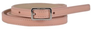Saint Laurent New Saint Laurent YSL Women's 334271 Blush Pink Leather Skinny Belt 34 85