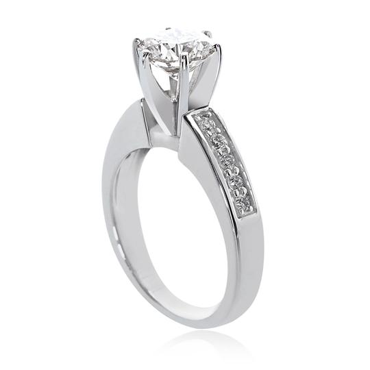 Avital & Co Jewelry 14k White Gold W 1.95 Carat J-si3 Natural Round Cut Diamond W/Gold Engagement Ring Image 1