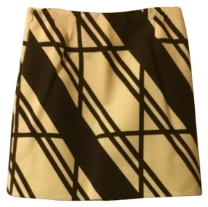 Neiman Marcus Skirt Brown On Ivory