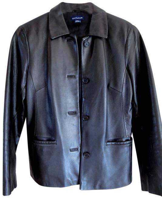 Preload https://item1.tradesy.com/images/ann-taylor-black-leather-jacket-size-6-s-1360705-0-0.jpg?width=400&height=650