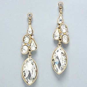 Elegant Rhinestone Crystal Waterdrop Earrings G