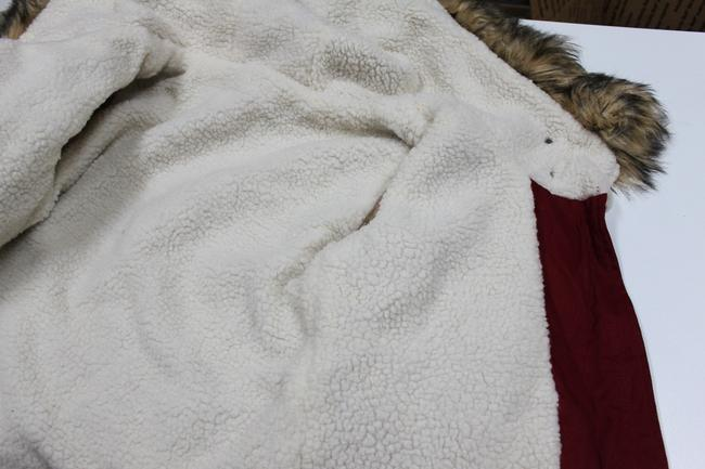 Other New Womens Faux Fur Hooded Coat With Sz S Burgundy Jacket