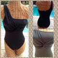 Boston Proper Calvin Klein One Shoulder One Piece Swimsuit Size 8 NWT Image 2