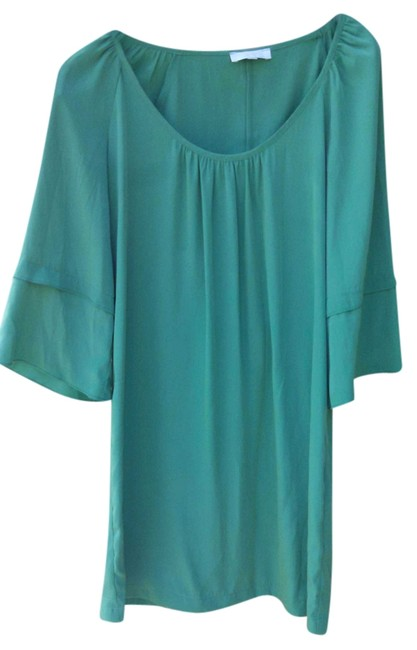 Item - Green Above Knee Short Casual Dress Size 4 (S)