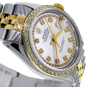 Rolex Rolex Datejust 116233 36mm Mother Of Pearl Double Row Diamond Dial 18k/SS Watch
