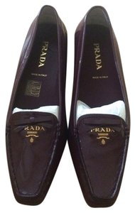 Prada Loafers Plum Dark Purple Flats