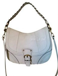 Coach Poppy Whip Stitch Strap Leather Large Cross Body Bag