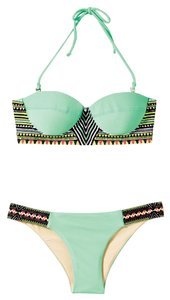 Mara Hoffman Mara Hoffman embroidered bustier bikini bottom and top (no straps included)