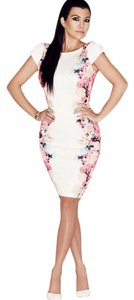 Other short dress White Floral Rose Sheath Pencil Pink on Tradesy