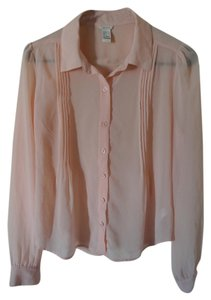 Forever 21 Blouse Button Down Shirt Blush pink