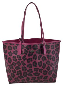 Coach Fuschia Reversible Tote in Magenta