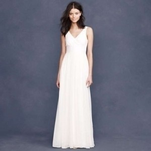 J.Crew Ivory Silk Chiffon Sophia Wedding Dress Size 6 (S)