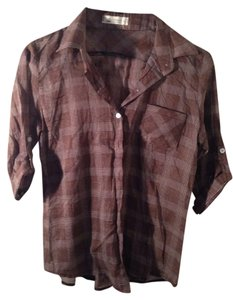 Dotori Button Down Shirt Red Plaid