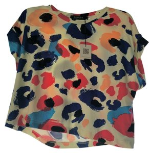 Choies Top Pink and Blue Multi