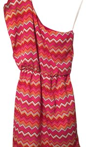 IZ Byer California short dress Pink/Yellow on Tradesy