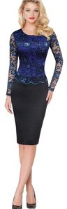 VfEmage Elegant Lace Longsleeve Sheath Dress
