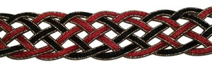 Other Wrap around belts 1) red and black & 2) gold and black
