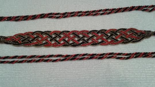 Other Wrap around belts 1) red and black & 2) gold and black Image 1