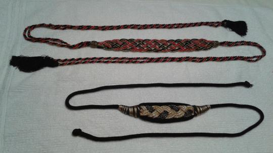 Other Wrap around belts 1) red and black & 2) gold and black Image 2