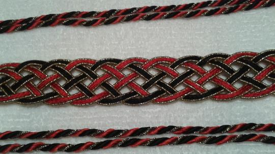 Other Wrap around belts 1) red and black & 2) gold and black Image 4