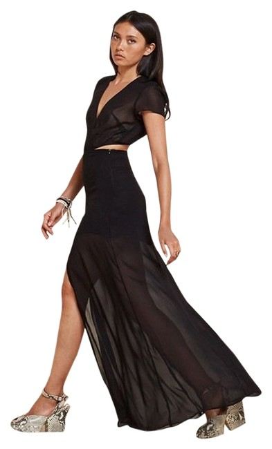 Item - Black Fiore Long Night Out Dress Size 0 (XS)