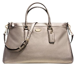 Coach New With Tags Satchel in Light Gold Metallic