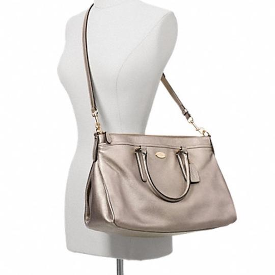 Coach New With Tags Satchel in Light Gold Metallic Image 1