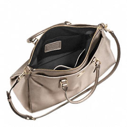Coach New With Tags Satchel in Light Gold Metallic Image 2