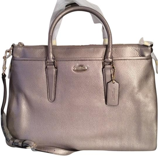 Coach New With Tags Satchel in Light Gold Metallic Image 3
